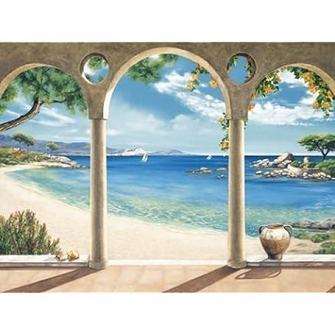 PRONTA da-quadro - Robert Dominguez: Mediterranean Bay 60 x 80 cm