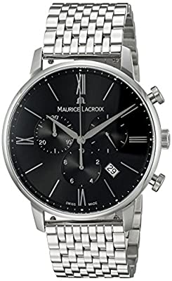 Maurice Lacroix Men's Analog Swiss-Quartz Watch with Stainless-Steel Strap EL1098-SS002-310-2