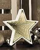Deko-Spiegel-Figur mit tollem 3D-Effekt durch Spiegelrückwand mit warmweißen LEDs Dekoration LED-Weihnachtsbeleuchtung 76824 (Modell: STERN)