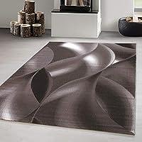 Carpetsale24 DESIGN AREA RUGS SHORT PILE GEOMETRIC PATTERN BROWN, Size:120x170 cm
