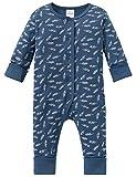 Schiesser Jungen Zweiteiliger Schlafanzug Grand Prix Baby Anzug mit Vario, (Blau 800), 86