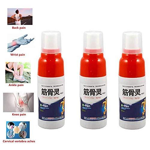 Arthritis Schmerzlinderung Spray, Relief Rheuma Arthritis Twists Verstauchungen Muskelschmerzen Sportverletzung, schnelle und effektive sofortige Linderung bei Sportverletzungen, Arthritis (3pcs) -