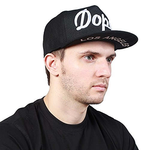 Noise NOICAPSB020 Dope Snapback Polyester Cap, Free Size (Black)  available at amazon for Rs.349