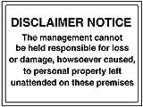 vsafety 72027bf-r Allgemeine Informationen Sign Haftungsausschluss Merken,/Management Verantwortung, starrer Kunststoff, Landschaft, 400mm x 300mm, schwarz