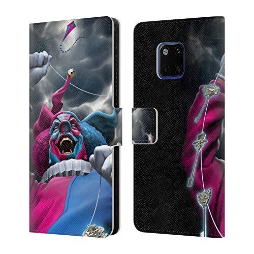 Head Case Designs Offizielle Tom Wood Verfuehrerisches Schicksal Clown Leder Brieftaschen Huelle kompatibel mit Huawei Mate 20 Pro -