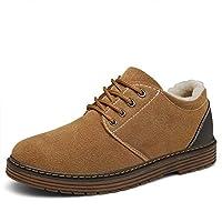 Bosleng Men Women Winter Shoes Casual Outdoor Warm Lace Up Shoes with Non Slip Sole XZ880-camel-EU42