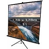 KIMEX 043-2023 Pantalla de proyección trípode 1,78 x 1,78m, formato 1/1