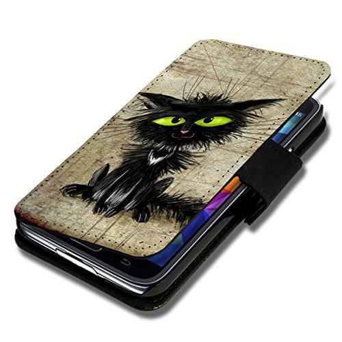 Book Style Flip Handy Tasche Case Schutz Hülle Schale Motiv Etui für Wiko Rainbow Lite - Flip A40 Design9