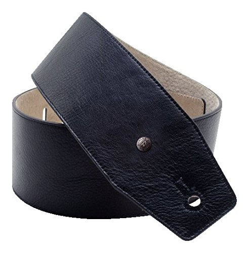 MF 02BK Gitarrengurt BMF Leder Strap 3 Wide Boy ()