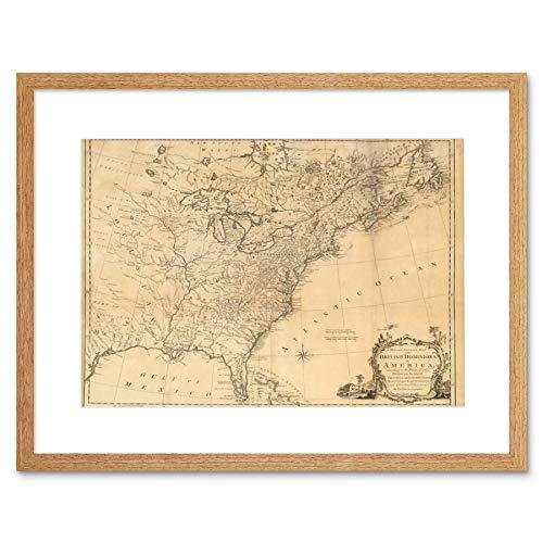 MAP ANTIQUE EASTERN SEABOARD 1763 NORTH AMERICA ATLANTIC OCEAN PRINT B12X7042 -