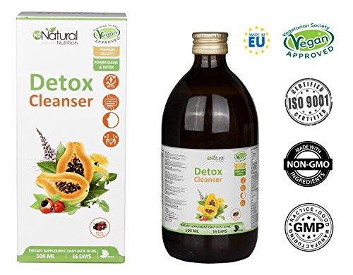 DETOX Diurético Natural Líquido Depurativo del Hígado Drenante Elimina Toxinas del Organismo...