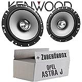 Opel Astra J - Lautsprecher Boxen Kenwood KFC-S1756-16cm Koax Auto Einbauzubehör - Einbauset