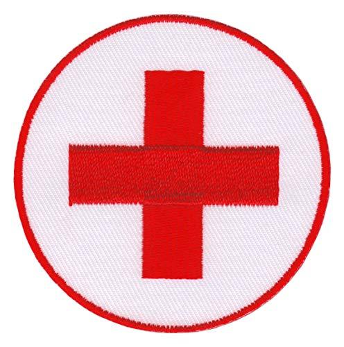 Patch Rotes Kreuz Abzeichen Drk Aufnäher Bügelbild Applikation 6,7 x 6,7 cm