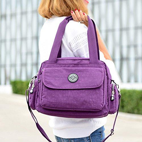 MeCooler Umhängetasche Leichter Kuriertasche Lässige Handtasche Damen Schultertasche Wasserdicht Taschen Messenger Bag Mode Reisetasche Sporttasche für Mädchen Blau 2