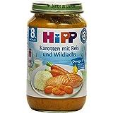 Hipp Karotten mit Reis und Wildlachs, 6er Pack (6 x 220g)