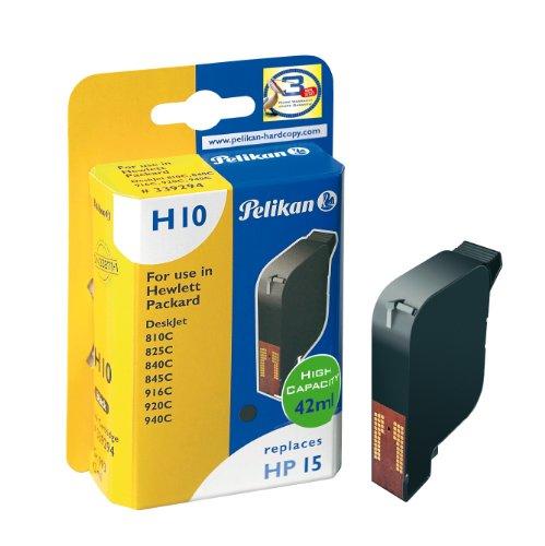 Pelikan 339294 – Cartucho de tinta HP15 – HP Dekjet 840, 810, 825C, 920, 940, 950) – Negro