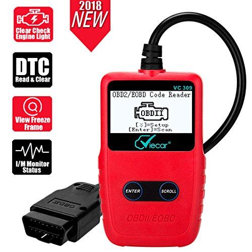iLC OBD 2 Diagnosegerät OBD II/EOBD Adapter Klare Motor Fehler Licht Trouble Codeleser Werkzeug mit LCD-Display OBD2 Kabel für Auto Fahrzeug
