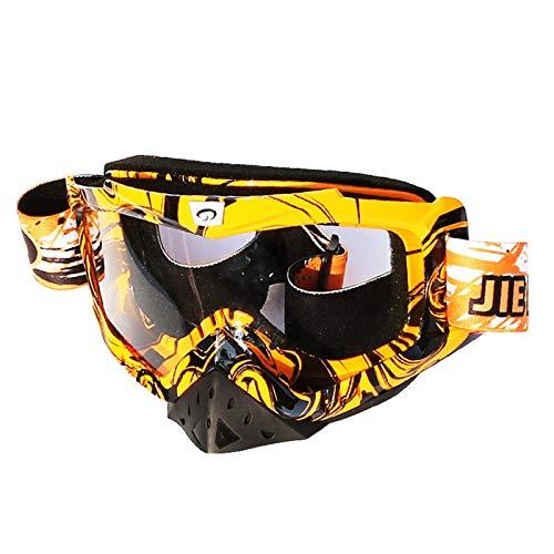 Aienid Sportsonnenbrille Herren Orange Schwarz Fahrradbrille Winddichter Augenschutz Size:19X19CM