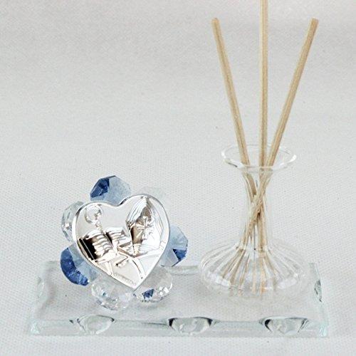 Dlm24778-azzurro profumatore in vetro soffiato per cresima_azzurro bomboniera