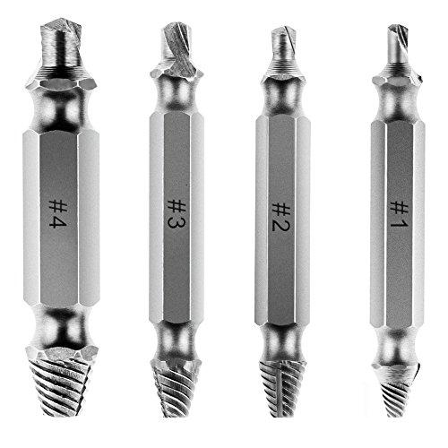 Rovtop Juego de removedor y Extractor de tornillos Juego de 4 removedores de tornillo Remover el tornillo
