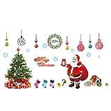 Emorias 1 Pcs Pegatina para Navidad Vidrio Ventana Papá Noel árbol de Navidad Mural Azulejos Engomada de Fiesta Carnaval Decoración