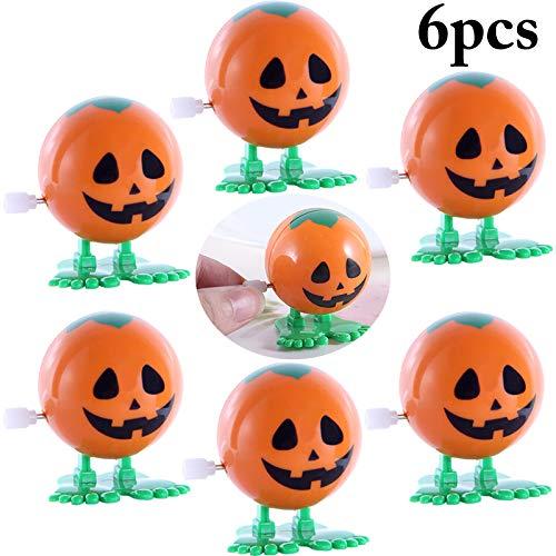 Joyibay 6 StÜcku Goody Bag Füllstoff Halloween Spielzeug Wickeln Spielzeug Kreative Kürbis Uhrwerk Spielzeug