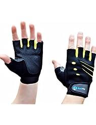 Levantamiento de pesas guantes de neopreno Tela BodyRip - negro, pequeño