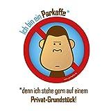 parkaffe.de 50x wasserfeste Sticker gegen Falschparker auf Privatgrundstück, PARKAFFE Aufkleber für die Windschutzscheibe