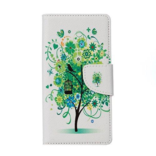 Vodafone Smart Prime 7 Hülle, Frlife | Bookstyle Handyhülle Premium PU-Leder klapptasche Case Brieftasche Etui Schutz Hülle mit Standfunktion Card Holder Kunstleder für Vodafone Smart Prime 7
