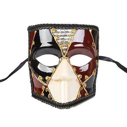 BLEVET Vintage Vénitien Mascarade Masque Halloween Carnivale Mardi Gras Parti Masque MZ064 (Red)
