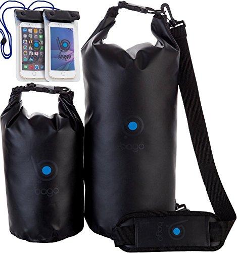 Bago-Dry-Bag-Bolsa-Impermeable-Con-Ventana-Transparente-Funda-Impermeable-Para-Mvil-Black-5L-10L