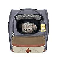 Mogoko Haustier Hund Rucksack Hunderucksack Träger Bag Pet Carrier Hundetasche Outdoor-Reise Schultertasche Tragetasche für Hunde, Katzen Grau