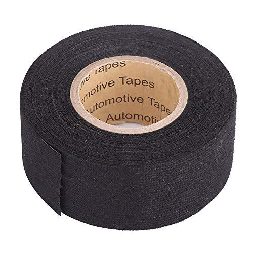 Elerose cablaggio panno nastro adesivo resistente al calore, nastro in tessuto cavo telai per auto moto(32mm*15m)