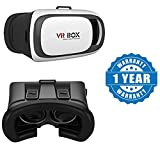 Drumstone 3D VR Headset Virtual Reality Box with Adjustable Lens and Strap Works with all Android or Iphone Devices (1 Year Warranty, Color May Vary)