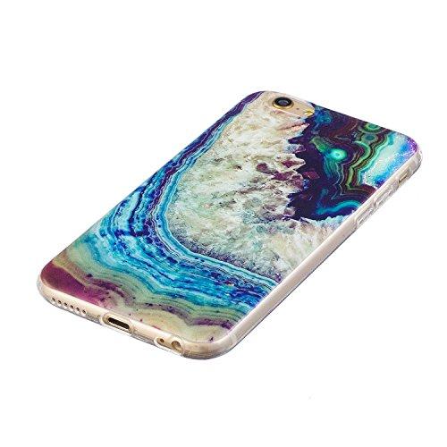 iphone 6 / 6s Hülle, E-Lush TPU Soft Silikon Tasche Transparent Schale Clear Klar Hanytasche für iphone 6 / 6s (4.7 Zoll) Durchsichtig Rückschale Ultra Slim Thin Dünne Schutzhülle Weiche Flexibel Hand Regenbogenfarbener Rock