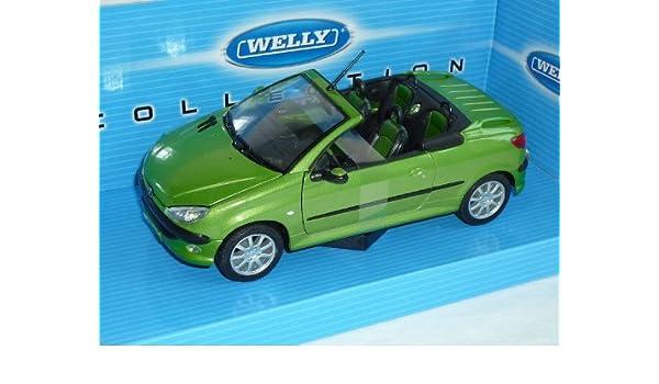 Welly Peugeot 206CC Gr/ün Metallic Cabrio Offen 2003-2007 ca 1//43 1//36-1//46 Modell Auto mit individiuellem Wunschkennzeichen