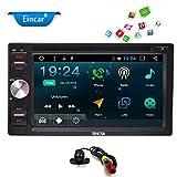 6.2 '' HD Touchscreen Doppio Din Android 6.0 di navigazione di GPS Stereo Marshmallow Car DVD Lettore multimediale con AM FM radio WiFi Bluetooth MirrorLink OBD2 + macchina fotografica di sostegno libero