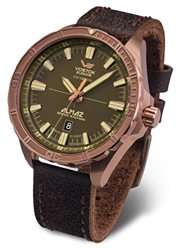 Vostok Europe Mens Automatic Watch Almaz Bronze NH35A-320O516
