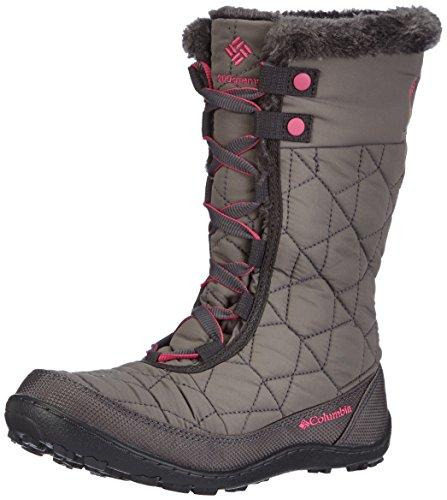 Columbia Youth Minx Mid Ii Waterproof Omni-heat Unisex-Kinder Trekking- & Wanderstiefel, Grau (Shale/Glamour 051), 34 EU, 1566591