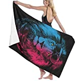 Microfiber Bath Towel Cool Fire and Ice Lion Beach Towel Beach Blanket Quick Dry Towel for Travel Swim Pool Yoga Camping Gym Sport -30