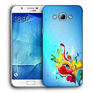 Snoogg Colorful Paint Printed Protective Phone Back Case Cover For Samsung Galaxy A8