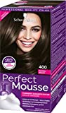 Schwarzkopf Perfect Mousse Permanente Schaumcoloration, 400 Dunkelbraun Stufe 3, 3er Pack (3 x 93 ml)