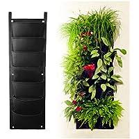 Longzhuo Maceta Vertical de jardín, para Colgar en Interiores y Exteriores, decoración de Hierbas
