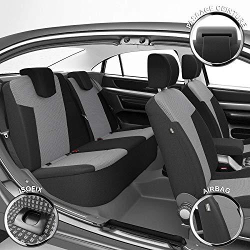 DBS 1011673 Coprisedili Auto / Vettura - Su Misura - Rifinizioni Alta Gamma - Montaggio Rapido - Compatibile Airbag - Isofix