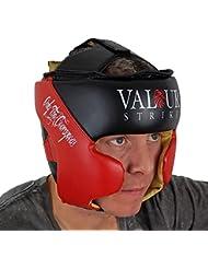 Guardia Jefe de Boxeo Casco Protegecabezas ★ MMA Artes Marciales del retroceso de cara UFC Fight Training Sombrerería ★ Sparring Protector Gear Impacto Zero - Valour Strike® (Extra Grande)