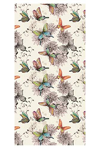 LimeWorks Badetuch, 70x140 cm, buntes Schmetterlings-Muster, Baumwolle/Mikrofaser, Made in EU
