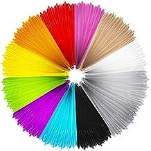 Mture Filamentos de 3D Impresión, 12 Colores PLA Materiales de Impresión 3D de Filamento Modelado Estereoscópico, 1.75mm, 5M