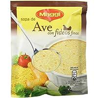 MAGGI Sopa de Ave con Fideos Finos - Sopa Deshidratada - Sobre 78g (4 raciones)