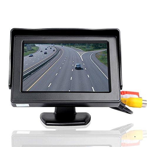 Kungfu Mall 4,3 Zoll Auto Monitor Desktop LCD Digital Display Schwarz