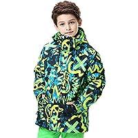 Gimitunus Chaqueta de esquí con Capucha para niños a Prueba de Viento de Colores cálidos a Prueba de Viento Impermeable (Color : A, tamaño : 120)